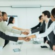 Businesspeople shaking hands — Stock Photo #78747018