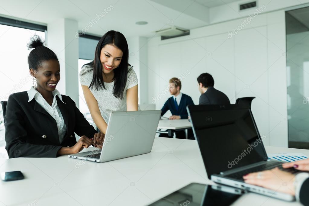 Multi-ethnic work environment — Stock Photo © nd3000 #78746864