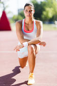 Athletic beautiful young woman portrait — Stock Photo