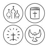 Christian symbol sketch — Stock Vector