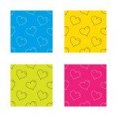 Love heart icon. Life sign. — Stock Vector