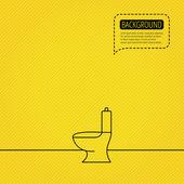 Toilet icon. Public WC sign. — Stock Vector