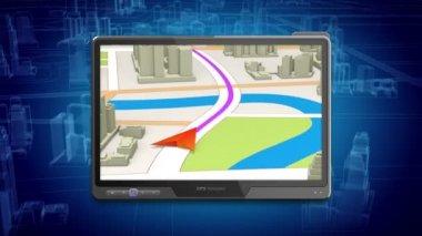 Gps navigasyon kavramı — Stok video