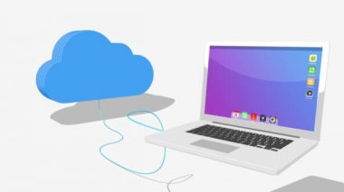 Cloud connecting to various devices — Stock Video