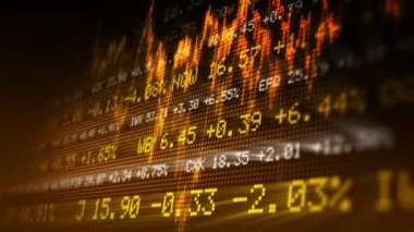 Stock exchange data — Stock Video
