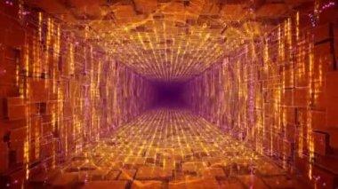 Camera moving through futuristic tunnel — Stock Video