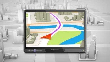 GPS navigation concept — Stock Video