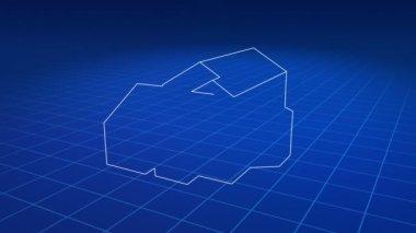 Ritning förvandlas till ett nytt hus — Stockvideo