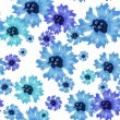 Seamless vector pattern with abstract flowers. — Stock Vector #79218974