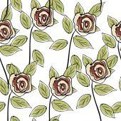 Άνευ ραφής τριαντάφυλλα μοτίβο — Διανυσματικό Αρχείο
