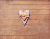 Cookie i hjärta form — Stockfoto