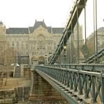 View from Szechenyi Chain Bridge on Four Seasons Hotel Gresham P — Stock Photo #79199304