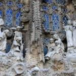 Nativity facade of Sagrada Familia Temple, Barcelona,Catalonia, Spain — Stock Photo #80164120
