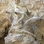 Nativity facade of Sagrada Familia Temple, Barcelona,Catalonia, Spain — Stock Photo #80164536