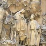 Nativity facade of Sagrada Familia Temple, Barcelona,Catalonia, Spain — Stock Photo #80164666