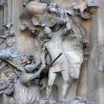 Nativity facade of Sagrada Familia Temple, Barcelona,Catalonia, Spain — Stock Photo #80164018