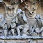 Nativity facade of Sagrada Familia Temple, Barcelona,Catalonia, Spain — Stock Photo #80164042