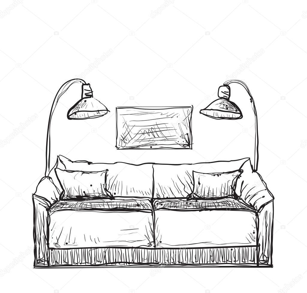 Yuliia25 111371776 for Sofa zeichnen kinder