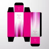 Perfume Box Design — Stock Vector