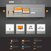 Web Design, elements, buttons, icons. Templates for website. — Stock Vector