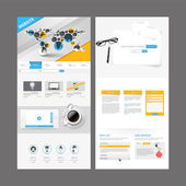Business One page website design template. Vector Design. — Stock Vector