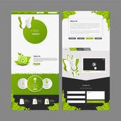 Modello di una pagina Web site e disegni dell'intestazione — Vettoriale Stock