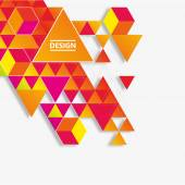 Vector geometric background. Colorful triangles theme — Stock Vector