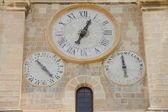 Staré hodiny na zdi — Stock fotografie