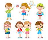 Cute kids on hollidays — Stock Vector