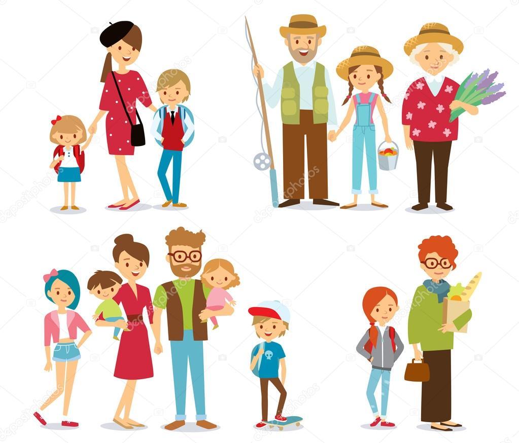 Большая семья картинка