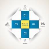 現代正方形のステップ オプション バナー — ストックベクタ