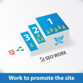 Seo work infographics — Stock Vector