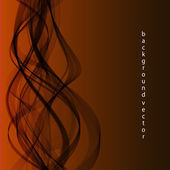 Black haze on an orange background — Stock Vector