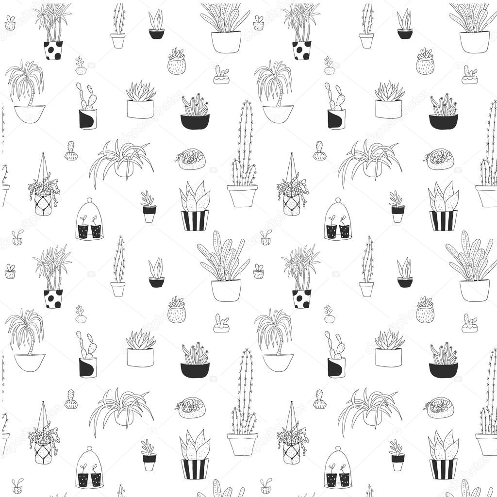 Fleurs en pot dessin for Dessin minimaliste
