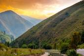 Landscape in the mauntains, Tian Shan — Stock Photo