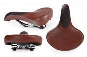 Leather bicycle saddle — Stock Photo