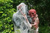 Bloody Human Skeleton — Stock Photo
