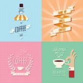 Fond de café — Vecteur