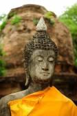 Face of Buddha statue — Stock Photo
