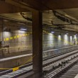 Train tracks in the subway in milan — Stock Photo #80565844