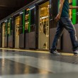 Train in the subway in milan — Stock Photo #80567182
