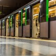 Train in the subway in milan — Stock Photo #80567510