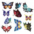 Multicolored butterflies for your design — Stock Vector #79817486