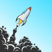 Rocket flight — Stock Vector