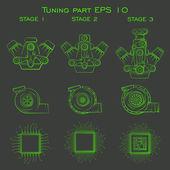 Tuning part — Stock Vector