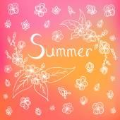 Vector summer background — Stock Vector