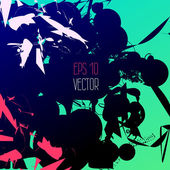 Abstract inkblot template for modern design — Stock Vector