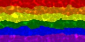 LGBT Flag With Water Caustics Effect. — Stock Photo