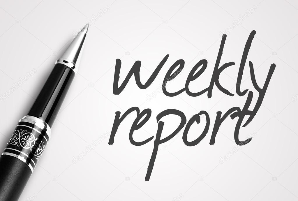 Pen writes weekly report on paper Photo underverse – Weekly Report Writing