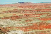 The multi-colored sands of the Painted Desert, Arizona — Stock Photo